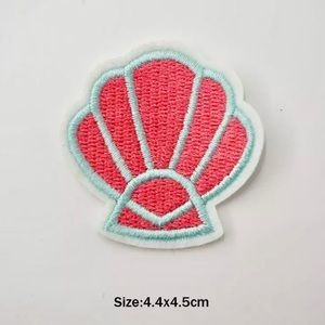 Accessories - Cute Summer Seashell Iron On Embroidered Patch